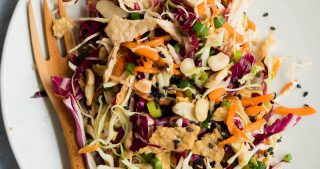 Sesame Chicken Crunch Salad | The Kitchen Paper