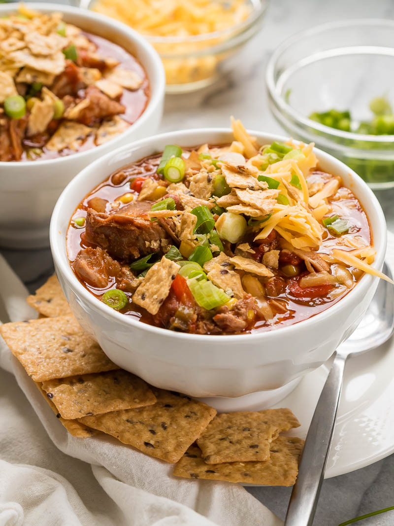 Slow Cooker Chipotle Pork Chili | The Kitchen Paper
