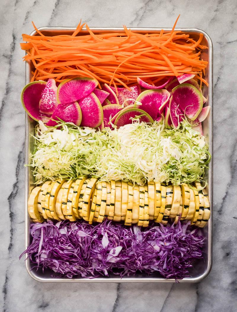Winter Vegetable Salad Rolls | The Kitchen Paper