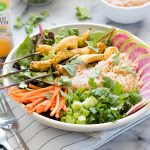 Lemongrass Chicken Satay Bowl | The Kitchen Paper