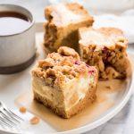 Rhubarb Cream Cheese Coffee Cake | The Kitchen Paper