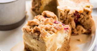 Rhubarb Cream Cheese Coffee Cake | The Kitchen Paper