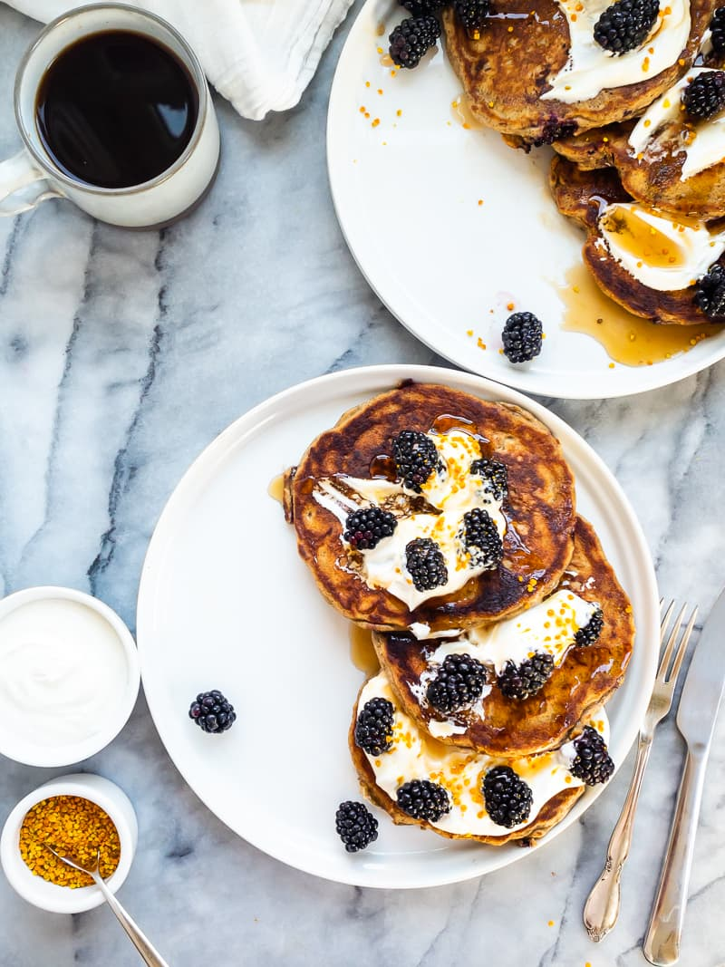 Blackberry Buckwheat Pancakes Recipe