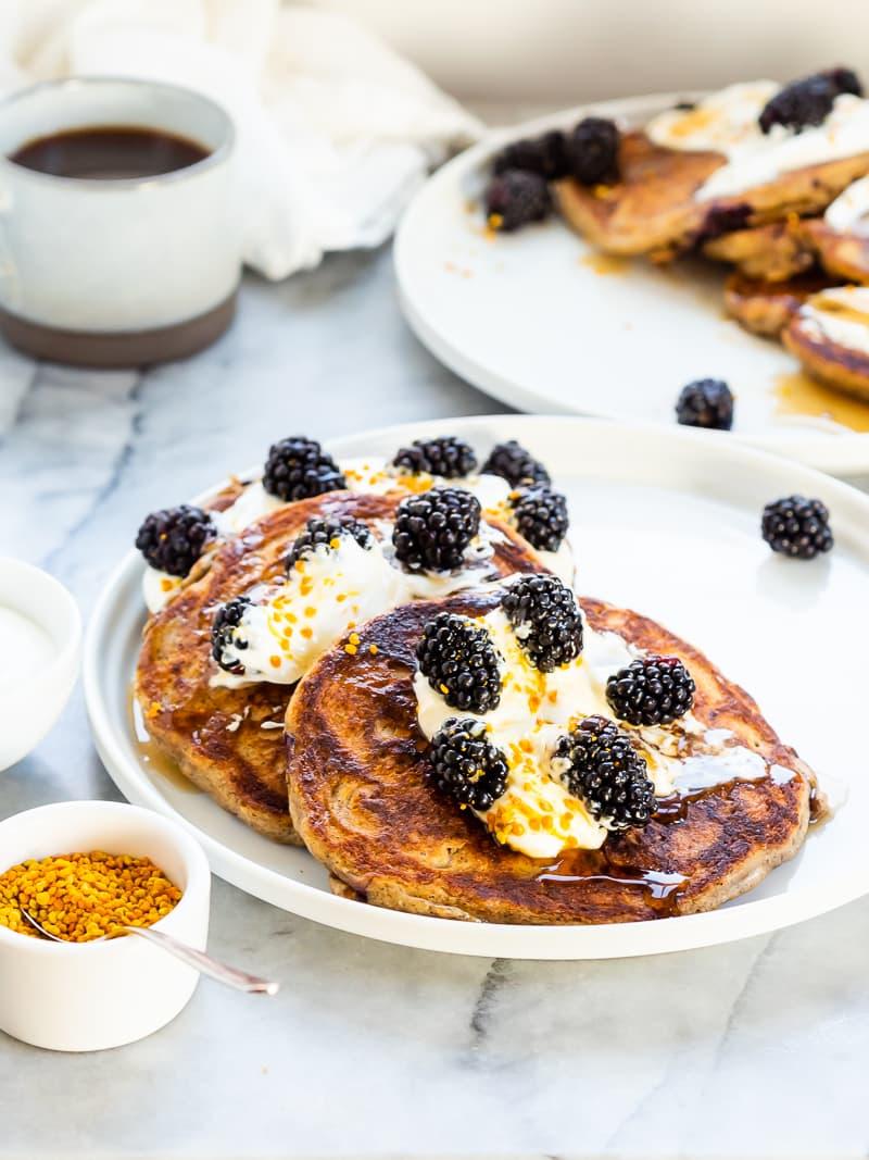 Blackberry Buckwheat Pancakes | The Kitchen Paper