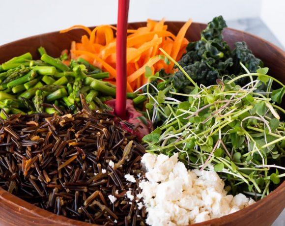 Wild Rice Salad with Blackberry Vinaigrette   The Kitchen Paper